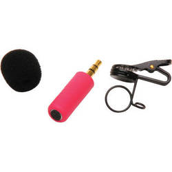 Microphone Madness MM-TMM-2 Tiny Mono Omni-Directional Microphone (Red)