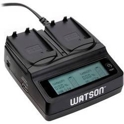 Watson Duo LCD Charger with 2 EN-EL14 / EN-EL14A Battery Plates