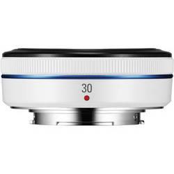 Samsung 30mm f/2.0 NX Pancake Lens (White)
