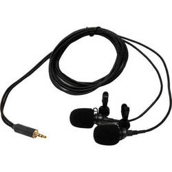 Microphone Madness MM-MCSM-1 Miniature Cardioid Stereo Microphones (100 to 16,000 Hz,Black)