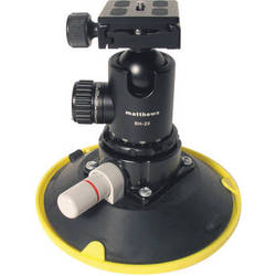 """Matthews BH-20 Ball Head with 6"""" Suction Cup Mount"""