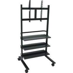 Luxor WFP100-B Universal LCD TV Stand with Three Shelves (Black)