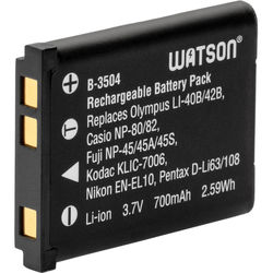 Watson LI-42B / NP-45A / LB-012 Lithium-Ion Battery Pack (3.7V, 700mAh)
