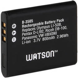 Watson LI-50B / VW-VBX090 / D-Li92 Lithium-Ion Battery Pack (3.7V, 800mAh)