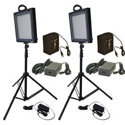 Bescor LED-500KL Dimmable Studio Light and Lithium Ion Battery Kit