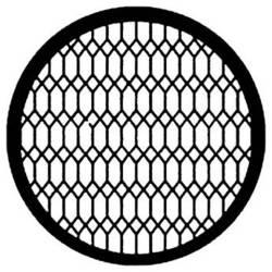 Rosco Steel Gobo #7597 - Diamond Lattice - Size A