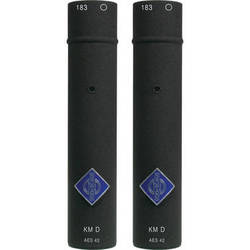Neumann KM 183D Small Diaphragm Omnidirectional Digital Microphone with AES/EBU Output (Stereo Pair, Black)
