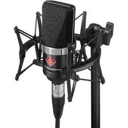 Neumann TLM-102 Large Diaphragm Studio Condenser Microphone (Studio Set,<sp> </sp>Black)