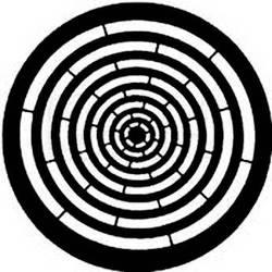 Rosco Steel Gobo #7762 - Concentric Rings