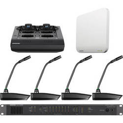 "Shure Microflex 4-Channel 10"" Gooseneck Microphone Wireless System"