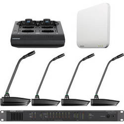 """Shure Microflex 4-Channel 15"""" Gooseneck Microphone Wireless System (Band Z10: 1920 to 1930 MHz)"""