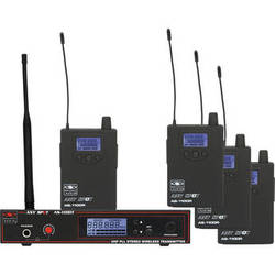 Galaxy Audio AS-1100D 4-User Personal Wireless Stage Monitoring System (584 to 607 MHz)