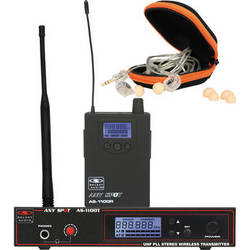 Galaxy Audio AS-1100-D Any Spot Wireless Personal Monitoring System with Pro Dual Driver Ear Buds & Case (584 to 607 MHz)