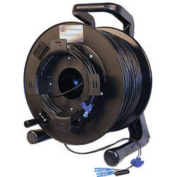 Tactical Fiber Systems Single-Mode Four-Fiber Cable on Reel with LC Connectors (250')