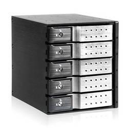 "iStarUSA 3x 5.25"" to 5x 3.5"" Trayless SAS/SATA 6.0 Gb/s Hot-Swap Cage(Silver)"