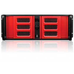 iStarUSA D Storm Series D-400L-7SE 4U High Performance Rackmountable Chassis (Red Bezel)