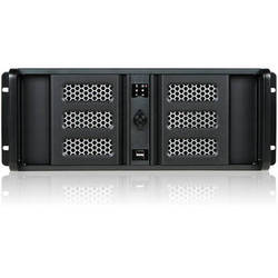"""iStarUSA 4U Compact Stylish Rackmount Chassis with 8"""" Touch Screen LCD (Black Bezel)"""