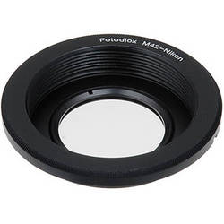 FotodioX Pro Lens Mount Adapter for M42 Lens to Nikon F Mount Camera