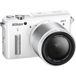 Nikon 1 AW1 Mirrorless Digital Camera with 11-27.5mm Lens (White)