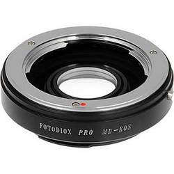 FotodioX Pro Lens Mount Adapter for Minolta MD Lens to Canon EF-Mount Camera with Dandelion Focus Confirmation Chip