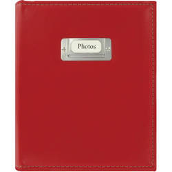 Pioneer Photo Albums CTS-246 Sewn Photo Album with Silver ID Cover (Bright Red)