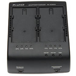 JVC Dual Battery Charger/AC Adaptor with LED Charge Indication