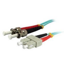 Comprehensive 10GB SC/ST Duplex 50/125 Multimode Fiber Patch Cable (Aqua, 22.9')