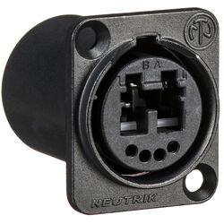 Neutrik Multimode OpticalCon Duo Chassis Connector (Black)