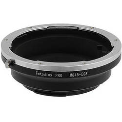 FotodioX Pro Lens Mount Adapter for Mamiya 645 Lens to Canon EF-Mount Camera with Dandelion Focus Confirmation Chip