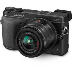 Panasonic Lumix DMC-GX7 Mirrorless Micro Four Thirds Digital Camera with 14-42mm f/3.5-5.6 Lens (Black)