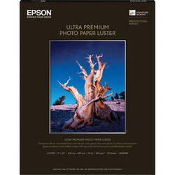 "Epson Ultra Premium Photo Paper Luster - 17 x 22"" - 25 Sheets"