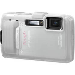 Olympus White Silicone Jacket for TG-830 iHS Camera
