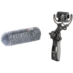 Rycote Standard Hole Softie with Mount and Pistol Grip (29cm Long)