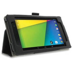 rooCASE Dual Station Folio Case Cover with Stylus for Nexus 7 FHD 2nd Generation (Black)
