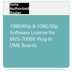 Sony 1080/60p & 1080/50p Software License for MVS-7000X Plug-In DME Boards