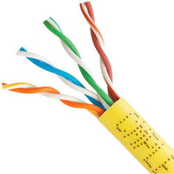 Cmple Cat 5e Bulk Ethernet LAN Network Cable (1000' / Yellow / Pull Box)