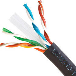 Cmple Cat6 Bulk Ethernet/LAN Cable (1000', Black)