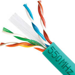 Cmple Category 6 Bulk Ethernet LAN Network Cable (Pull Box, 1000', Green)