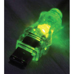 QVS FireWire/i.Link 6-Pin to 4-Pin Translucent Cable with Green LEDs (6')