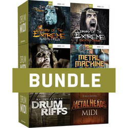 Toontrack Metal Drums MIDI 6 Pack - MIDI Files for Metal Music Production (Download)
