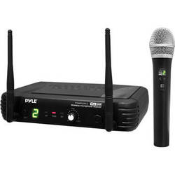 Pyle Pro PDWM1902 Wireless Handheld Microphone System with Selectable Frequencies