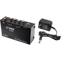Pyle Pro PP555 Ultra-Compact Phono Turntable Pre-Amplifier with 9V Battery Compartment