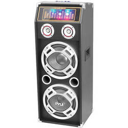 Pyle Pro PSUFM1035A Disco Jam 1,000W 2-Way Bluetooth Speaker System with Flashing DJ Lights