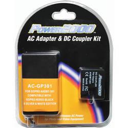 Power2000 AC Adapter/DC Coupler for GoPro HERO3/HERO3+ Camera