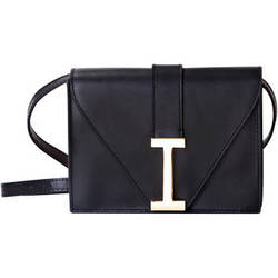 ISAAC MIZRAHI The I Clutch (Black)