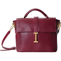 ISAAC MIZRAHI The Liz Camera Satchel (Burgundy)