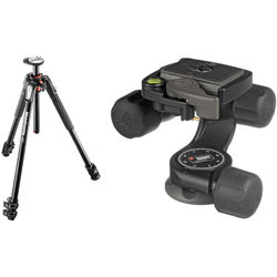 Manfrotto MT190XPRO3 Aluminum Tripod Kit with 460MG 3D Magnesium Head and RC2 Quick-Release System