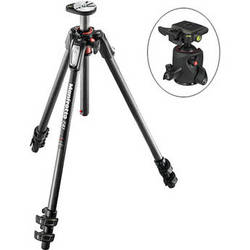 Manfrotto MT190CXPRO3 Carbon Fiber Tripod Kit with 054 Magnesium Ball Head with Q2 Quick Release
