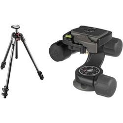 Manfrotto MT190CXPRO3 Carbon Fiber Tripod Kit with 460MG 3D Magnesium Head with Quick-Release System