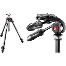 Manfrotto MT190CXPRO3 Carbon Fiber Tripod Kit with MH293D3-Q2 3-Way Photo Head and Q2 Quick-Release System